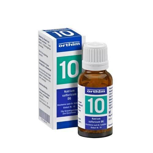Biochemie Globuli 10 Natrium sulfuricum D 6 - 1