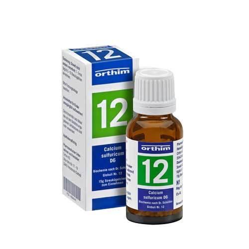 Biochemie Globuli 12 Calcium sulfuricum D 6 - 1