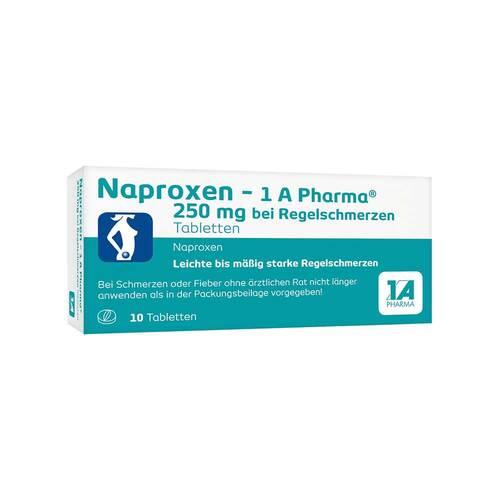Naproxen 1A Pharma 250 mg bei Regelschmerzen Tabletten - 1