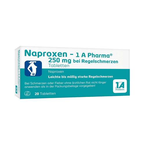 Naproxen 1A Pharma 250 mg bei Regelschmerzen Tabletten - 1