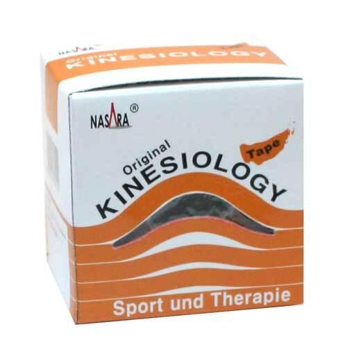 Nasara Kinesio Tape 5 cm x 5 m beige inkl.Spenderbox - 1