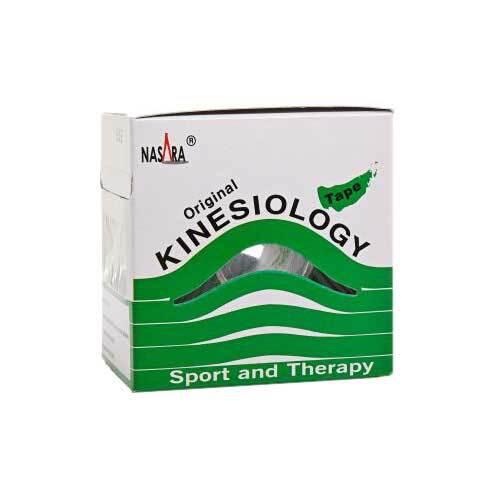 Nasara Kinesio Tape 5 cm x 5 m grün inkl.Spenderbox - 1