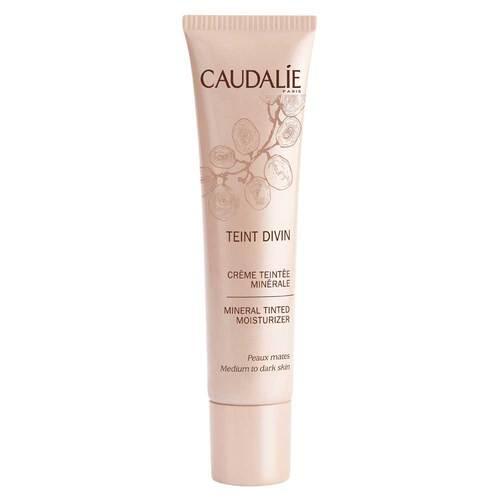 Caudalie Teint Divin Creme Teintee minerale für dunklere Haut - 1