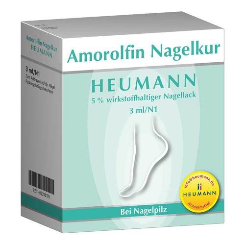 Amorolfin Nagelkur Heumann 5% wirkstoffh.Nagellack - 1