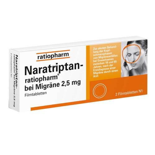 Naratriptan ratiopharm bei Migräne Filmtabletten - 1