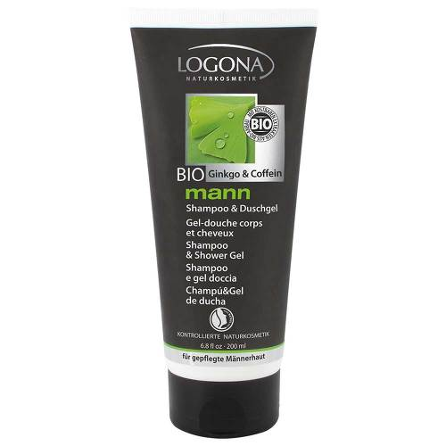 Logona Mann Shampoo und Duschgel Bio-Gingko & Bio-Coffein - 1