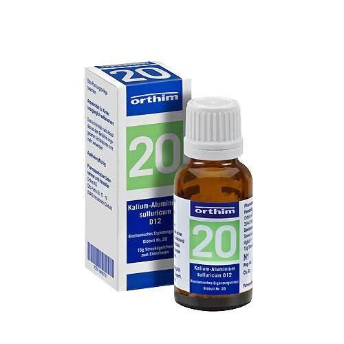 Biochemie Globuli 20 Kalium aluminium sulfuratum D 12 - 1
