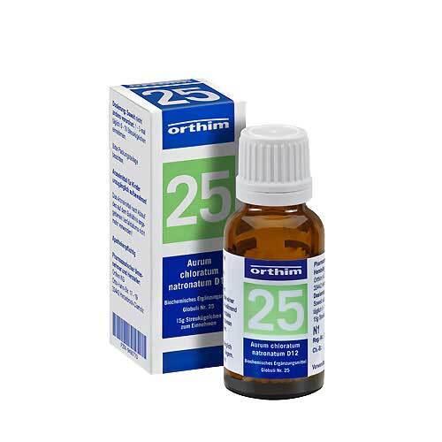 Biochemie Globuli 25 Aurum chloratum natrona. D 12 - 1