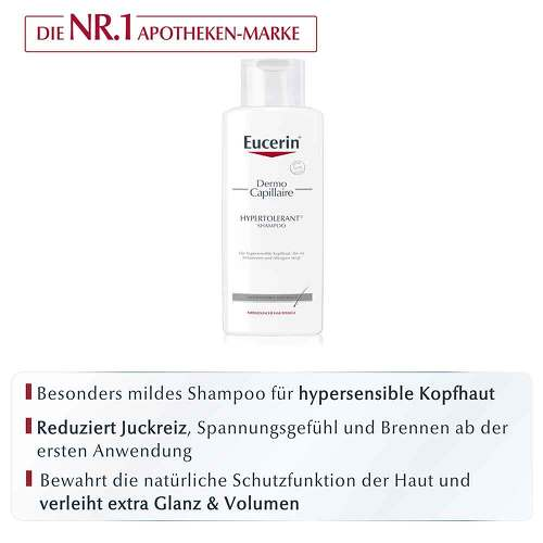 Eucerin DermoCapillaire Hypertolerant Shampoo - 2