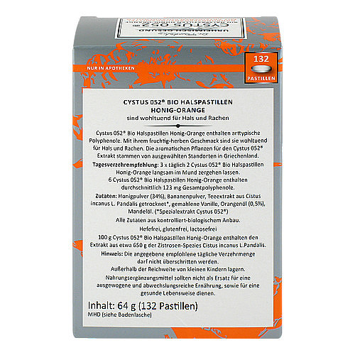 Cystus 052 Bio Halspastillen Honig Orange - 2
