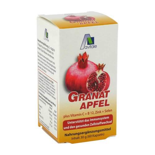 Granatapfel 500 mg plus Vitamin C + B12 + Zink + Selen - 1