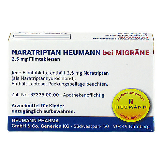 Naratriptan Heumann bei Migräne 2,5 mg Filmtabletten - 2
