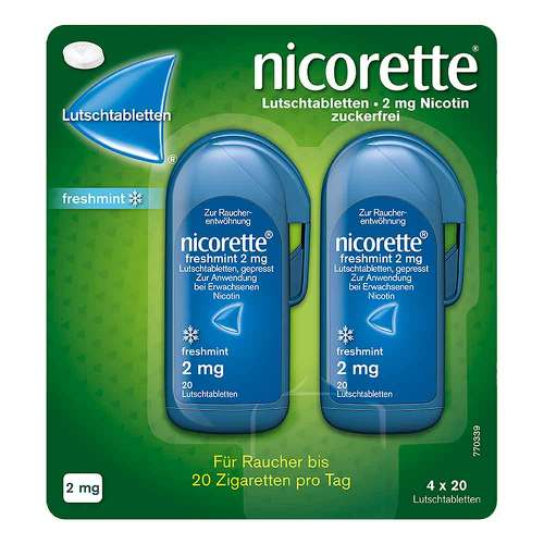 Nicorette freshmint 2 mg Lutschtabletten gepresst - 1