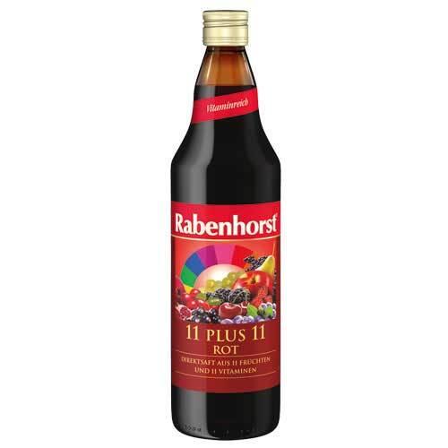 Rabenhorst 11 Plus 11 Multivitaminmehrfrucht Saft rot - 1