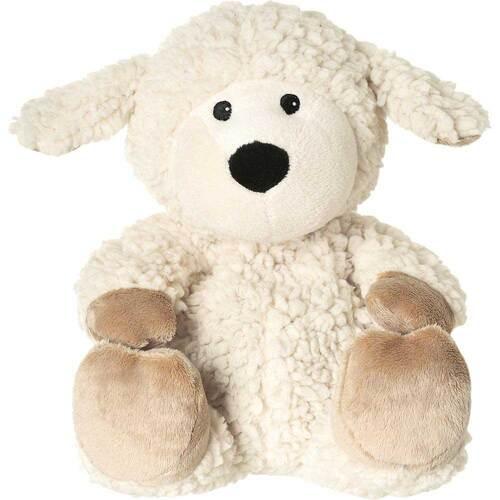 Wärme Stofftier Schaf Wolle beige herausn. Kissen - 1