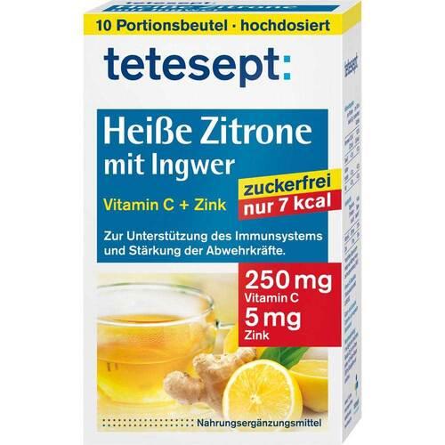 Tetesept Heiße Zitrone mit Ingwer zuckerfrei Pulver - 1