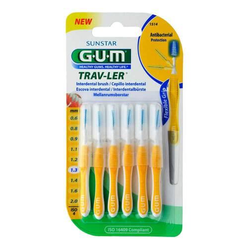 GUM Trav-Ler 1,3mm Tanne gelb Interdental + 6Kappen - 1