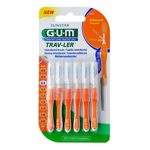 GUM Trav-Ler 0,9mm Kerze orange Intendent. + 6Kappen - 1