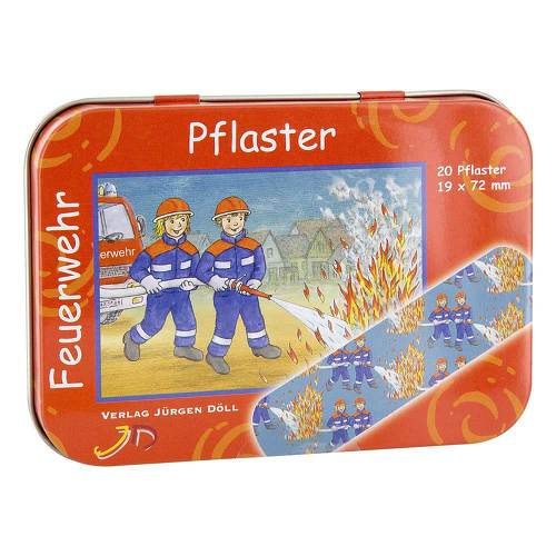 Kinderpflaster Feuerwehr Dose - 1