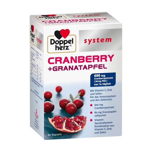 Doppelherz system Cranberry+Granatapfel Kapseln - 1