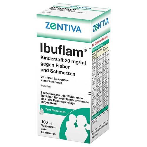 Ibuflam Kindersaft 2% gegen Fieber und Schmerzen Suspension - 1