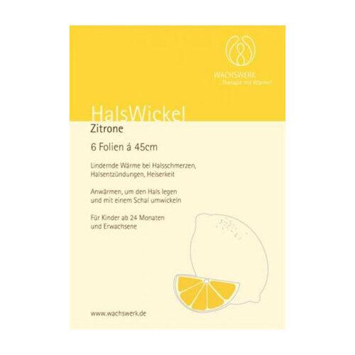 Halswickel Zitrone Wachswerk - 1
