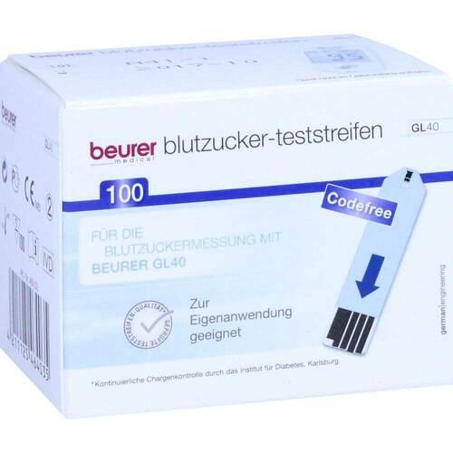 Beurer GL40 Blutzuckerteststreifen - 1