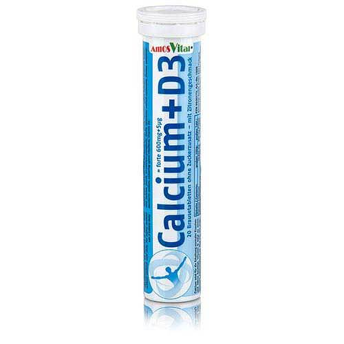 Calcium 600 mg + Vitamin D3 5µg Amosvital Brauset. - 1