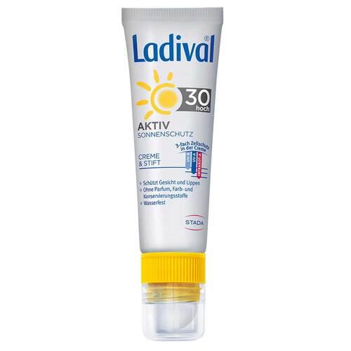 Ladival Aktiv Sonnenschutz für Gesicht und Lippen LSF 30 - 1