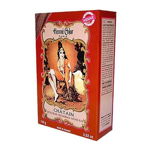 Henna Color Pulver kastanienbraun Chatain - 1