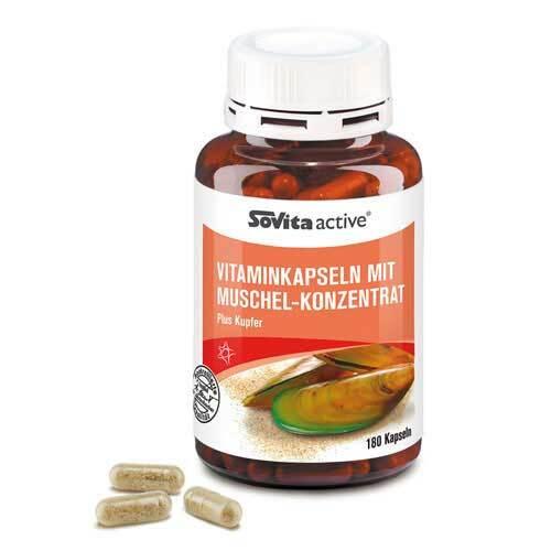 Sovita active Vitaminkapseln M. Muschel-Konzentrat - 1