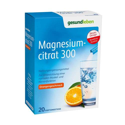 Gesund Leben Magnesiumcitrat 300 Portionssticks - 1