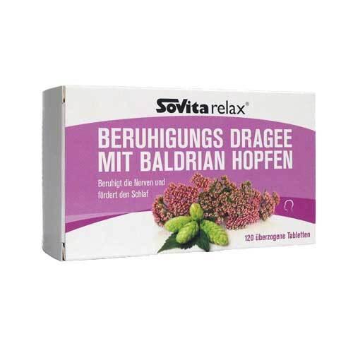 Sovita relax Beruhigungs Dragee mit Baldrian Hopfen - 1