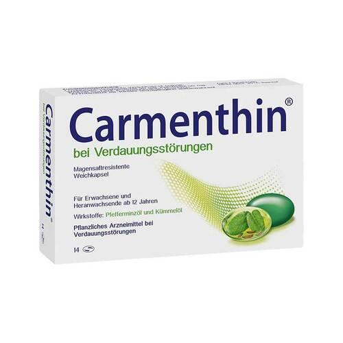 [pflanz_marker]Carmenthin bei Verdauungsstörungen magensaftresistente Weichkapseln
