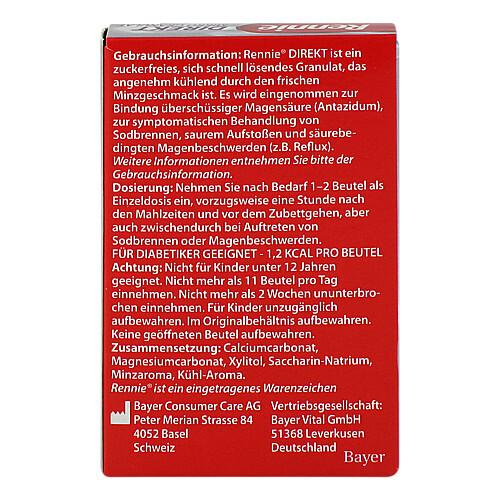 Rennie Direkt Mikro Granulat zuckerfrei - 2