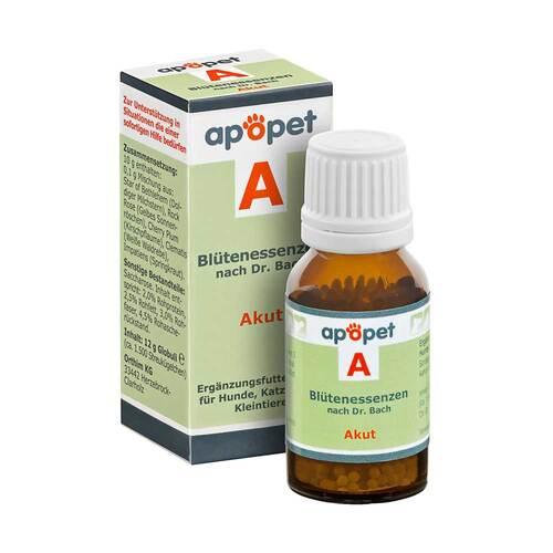 Apopet A Akut Blütenessenzen n.Dr. Bach Globuli vet. (für Tiere) - 1