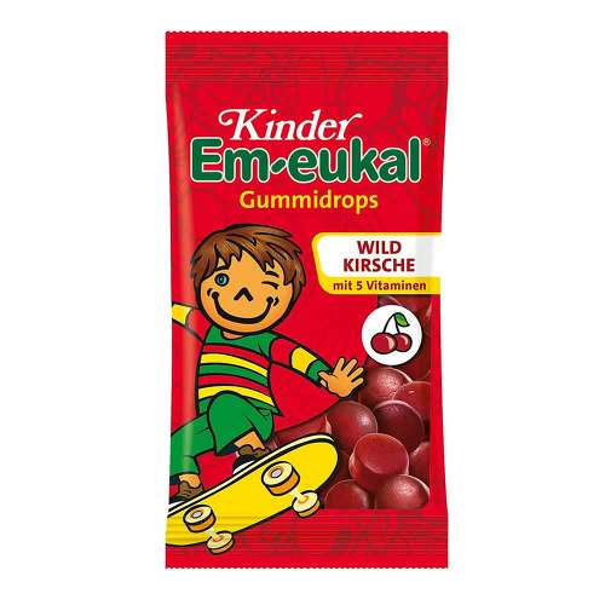 Kinder Em-eukal Gummidrops Wildkirsche zuckerhaltig - 1