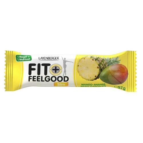 Layenberger Fit + Feelgood Riegel Mango-Ananas white chocolate - 1