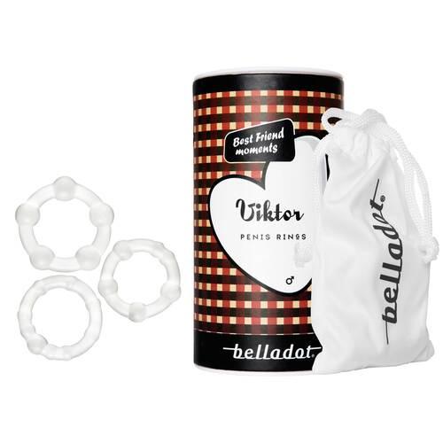 Belladot / Viktor Silikonpenisringe in 3 Größen - 1