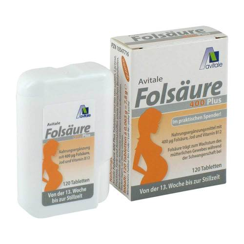 Folsäure 400 Plus B12 + Jod Tabletten - 3