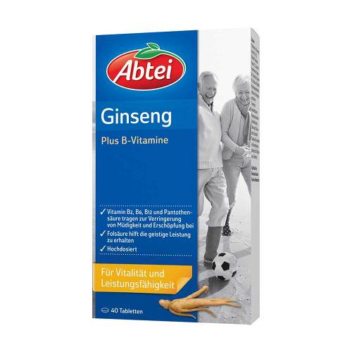 Abtei Ginseng Plus B-Vitamine Tabletten - 1