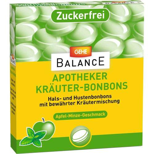 Gehe Balance Apotheker Kräuterbonbons Apfel-Minze zuckerfrei - 1