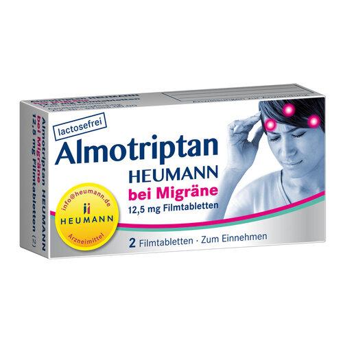 Almotriptan Heumann bei Migräne 12,5 mg Filmtabletten - 1