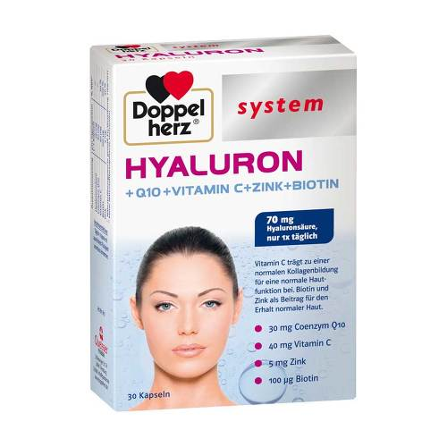 Doppelherz system Hyaluron+Q10+Vitamin C+Zink+Biotin Kapseln - 1