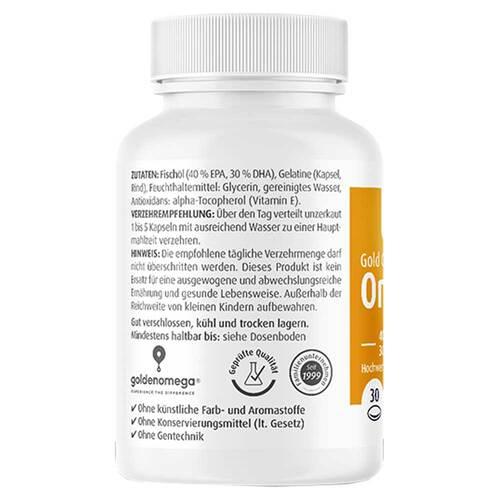 Omega-3 Gold Herz DHA 300mg / EPA 400mg Softgelkapseln  - 2