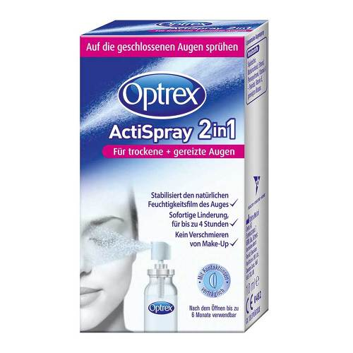 Optrex Actispray 2in1 für trockene + gereizte Augen - 1