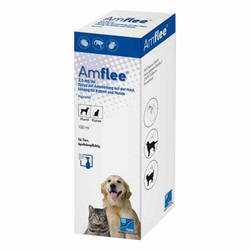 Amflee 2,5 mg / ml Spray Lösung für Katzen und Hunde - 1