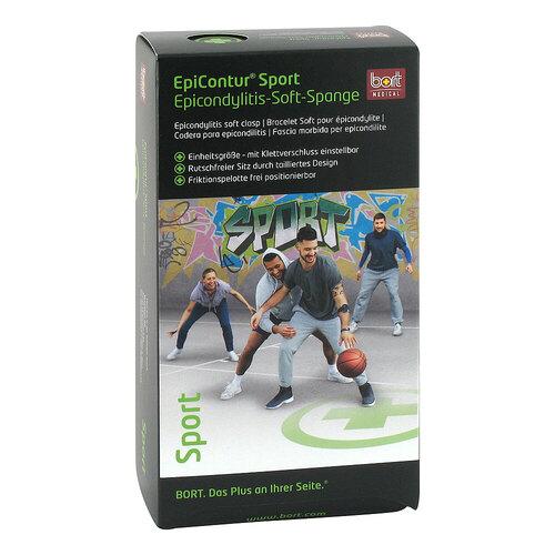Bort Epicontur Sport Epicondylitis Soft-Spange schwarz / grün - 1