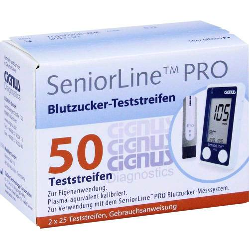 Seniorline Pro Blutzucker-Teststreifen Cignus - 1