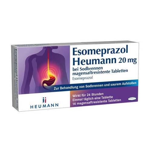 Esomeprazol Heumann 20 mg bei Sodbrennen magensaftresistent Tabletten  - 1